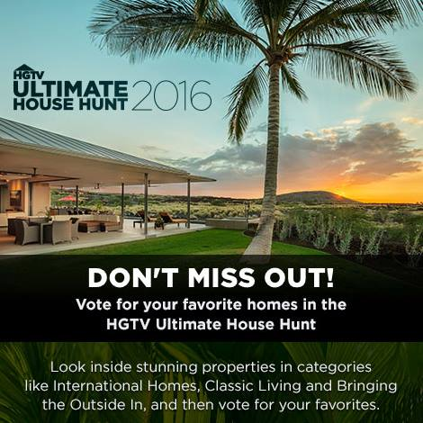 Vote for HGTV's Ultimate House Hunt 2016